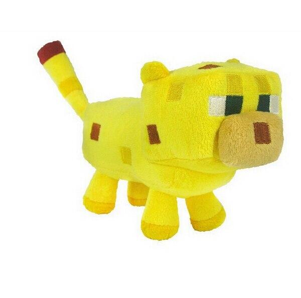 1 Szt Minecraft Ocelot 24 Cm Nadziewane Lalki Kot Zwierząt Pluszowe