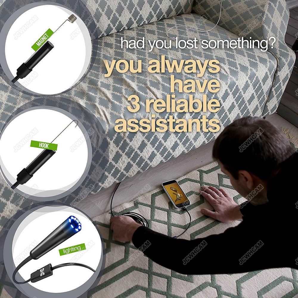 8 мм объектив 1 м-10 м мягкий кабельный эндоскоп Android USB эндоскоп камера Водонепроницаемая Led Borescopes камера для ПК Android телефон