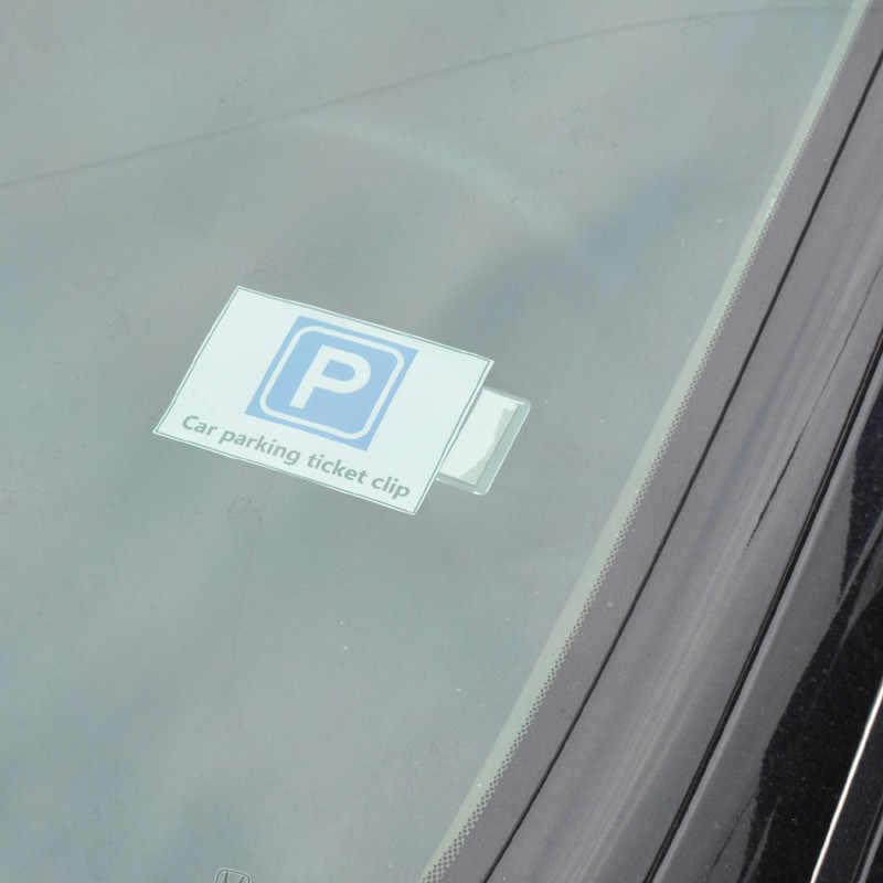 Auto Parkplatz Ticket Clip Fastener Auto Innen Organizer Erlauben Karte Rechnung Halter Aufkleber Für Benz Mini VW Honda Toyota Kia opel