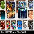 Case For HTC Desire 700 709d Красочные Печати Рисунок Прозрачный Пластиковый Чехол Для Мобильного Телефона Тяжелых Случаях Телефон