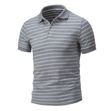 New Arrivals Summer Mens Striped Polo Shirts Short Sleeve Polo Shirt Men s Clothing Large Size