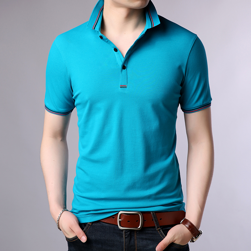 2019 New Fashions Brands Polo Shirt Men Solid Color High Quality Summer Short Sleeve Slim Fit Boys Polos Casual Mens Clothing