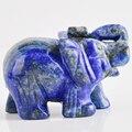 2 Zoll Elefanten Figuren Handwerk Geschnitzt Naturstein Lapislazuli Elephant Mini Tiere Statue für Wohnkultur Chakra Healing-in Statuen & Skulpturen aus Heim und Garten bei