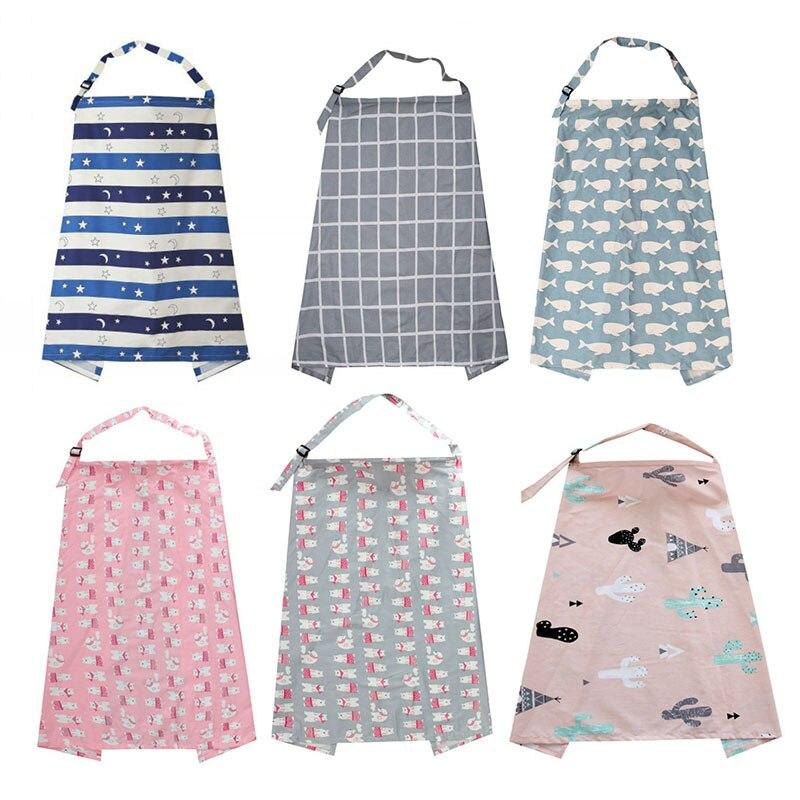 Breathable Baby Feeding Cotton Covers Breastfeeding Nursing Cover Neckline Adjustable Mum Up Poncho