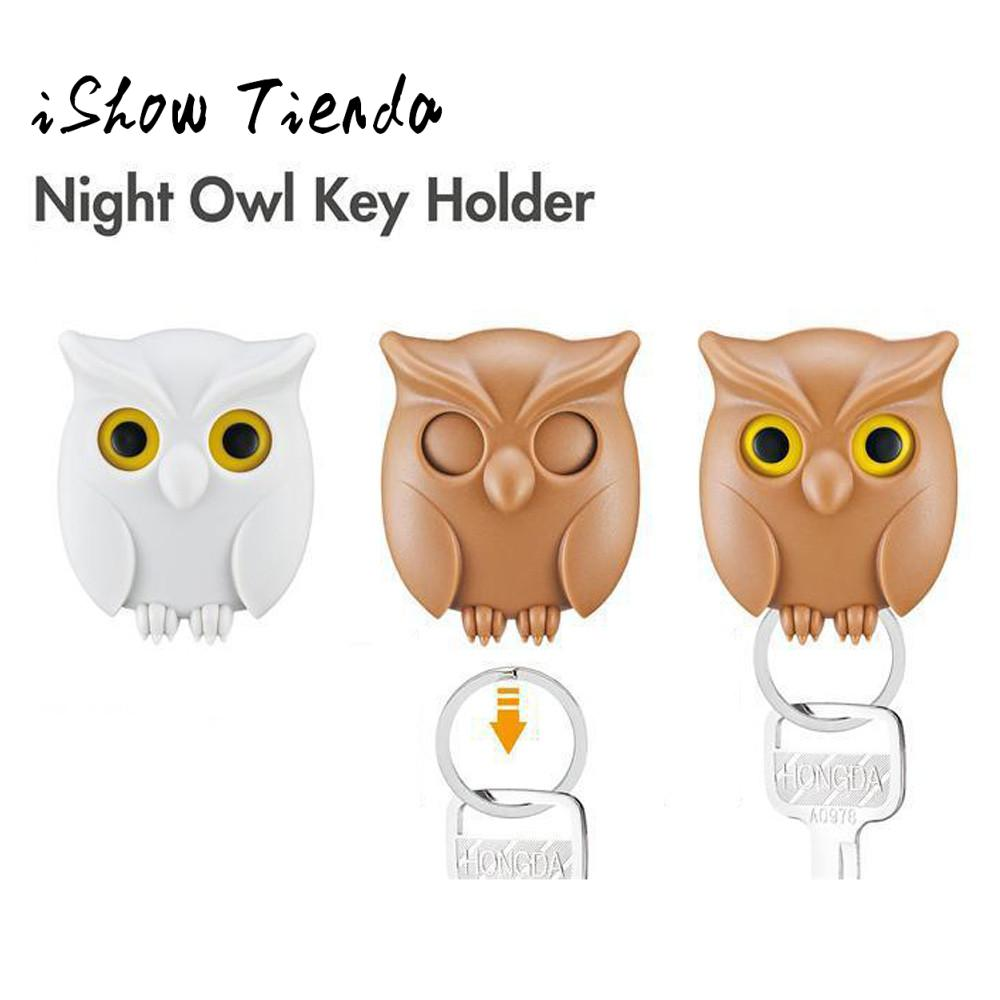 Home Key Holder For Wall Us 3 26 Practical Owl Key Holder Wall Mounted Magnetic Key Holder Home Decor Creative 20 In Figurines Miniatures From Home Garden On