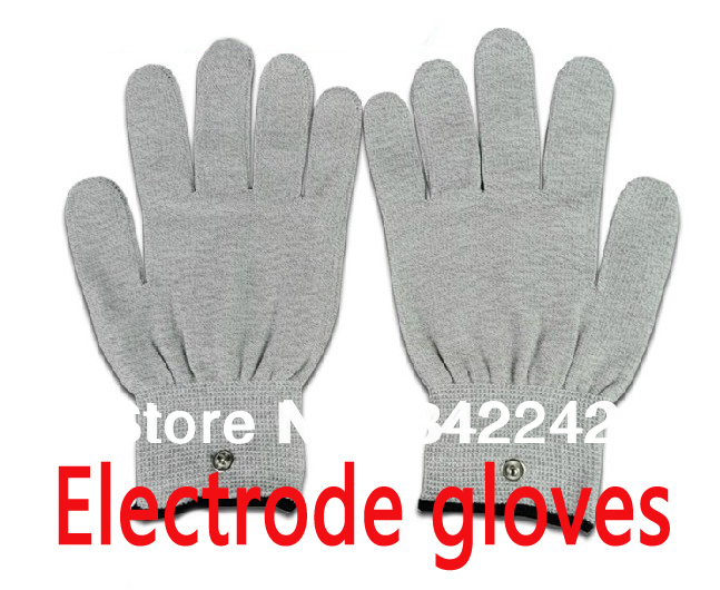5pair Electrode gloves,Beauty gloves, Silver Thread Conductive Gloves for Use with Tens/Acupuncture Massage gloves /></noscript></a><br /> <em></p> <div itemprop=
