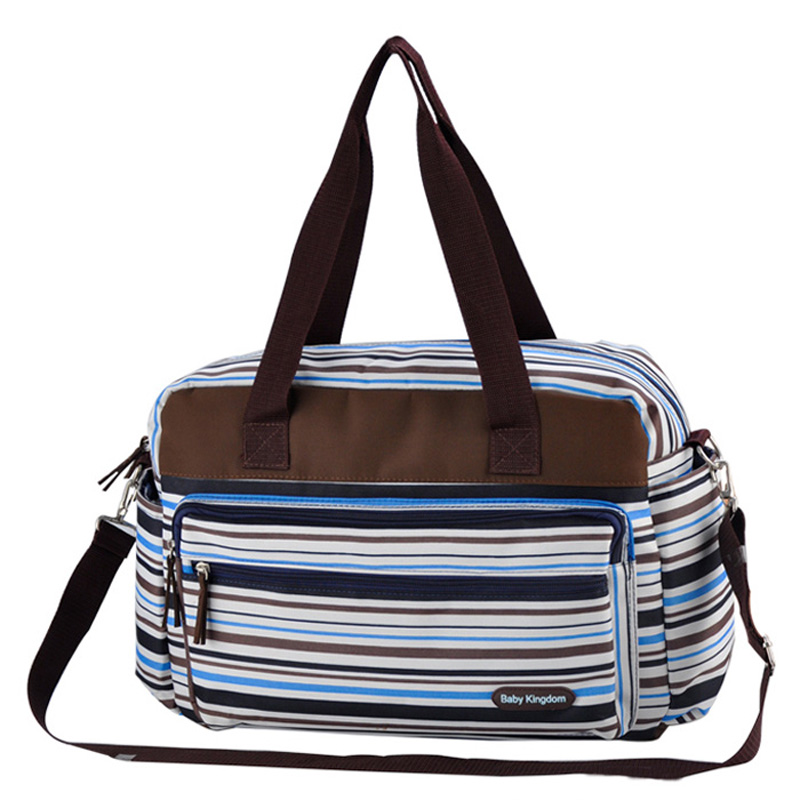 Colorful striped diaper bag Fashion maternity mummy messenger bags And Multifunctional baby stroller bag baby care nappy change
