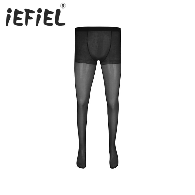 New Arrival Mens Exotic Lingerie Stretchy Full Length Sheer Pantyhose Tights Stockings Panties Underpants Mens Sexy Nightwear
