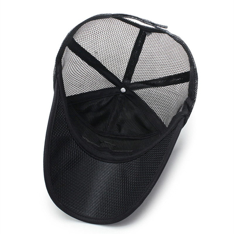 SILOQIN Men 39 s Mesh Breathable Baseball Caps Adjustable Size Women 39 s Ponytail Mesh Hat Snapback Cap Letter Embroidery Fishing Cap in Men 39 s Baseball Caps from Apparel Accessories