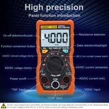 ANENG V01B  4000 Counts Digital multimeter comprobador automotive electrical dmm transistor tester capacitance meter test point