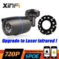 2016 Nuevo HD 720 P POE IP CCTV 1.0MP cámara de visión nocturna Impermeable al aire libre cámara de red ONVIF vista Remota Mejorada IR Laser LED
