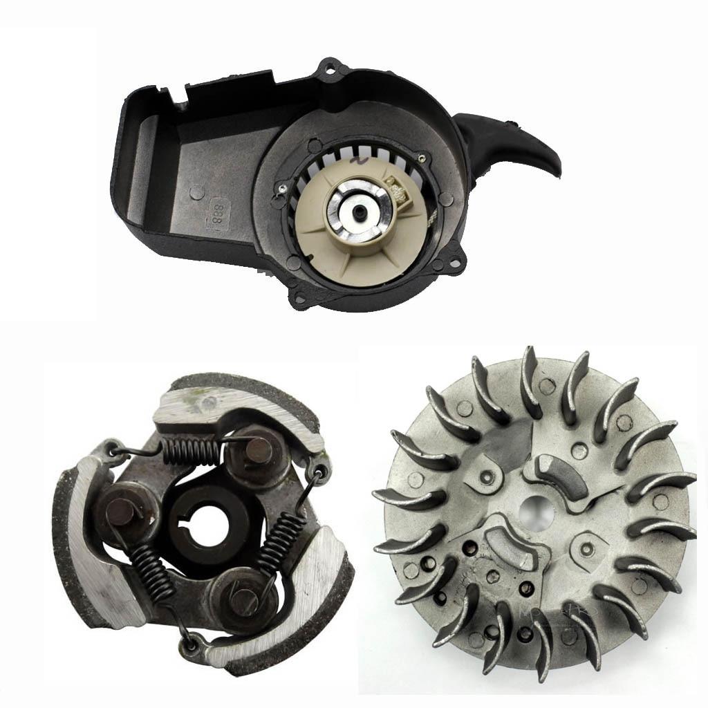 pull start flywheel clutch 49cc dirt mini pocket atv quad bike scooter black in turbos parts from automobiles motorcycles on aliexpress com  [ 1024 x 1024 Pixel ]