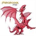 ICONX Piececool 3D Металлические Головоломки P071-RS Пламя Дракона DIY Puzzle 3D Модели Металлические Головоломки Игрушка, Educationla Динозавров Игрушки Для Взрослых