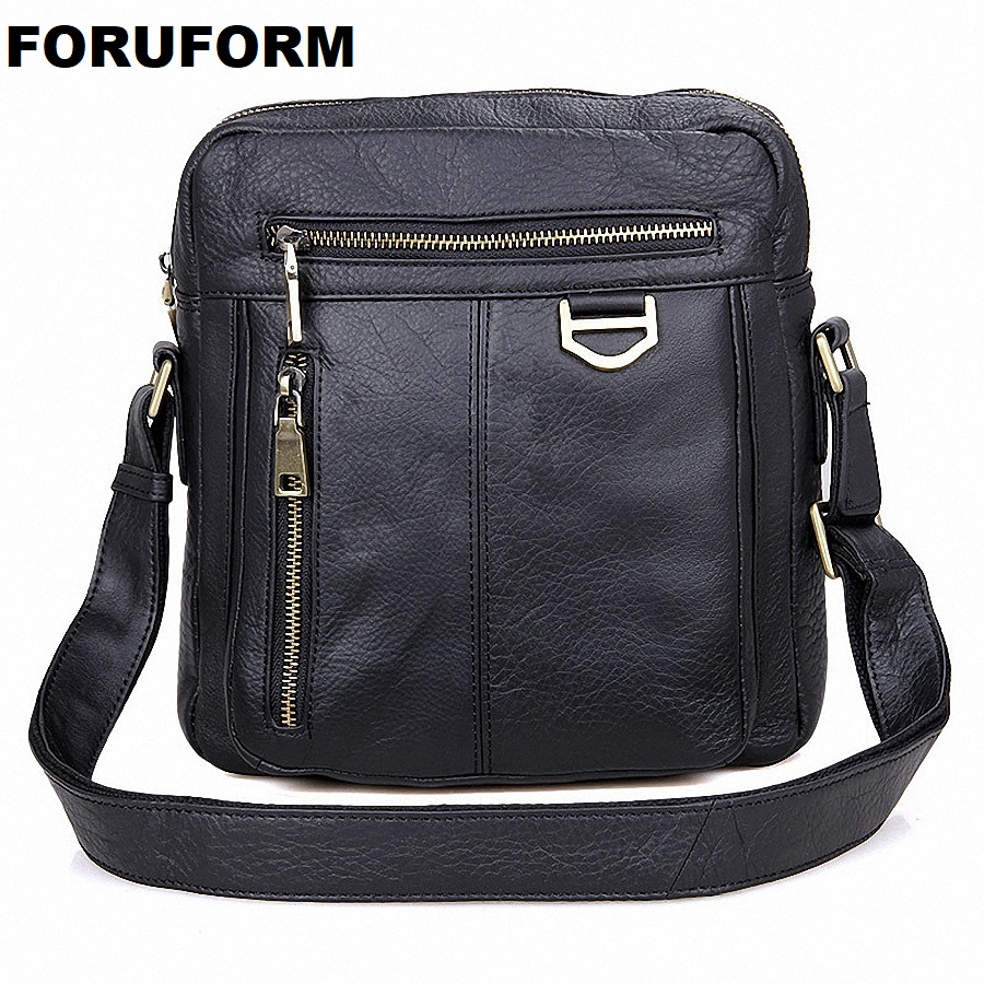 Brand 100% Genuine Leather Men Messenger Bag Casual Crossbody Bag Business Men's Handbag Bags For Gift Shoulder Bags Men LI-1747 casual canvas women men satchel shoulder bags high quality crossbody messenger bags men military travel bag business leisure bag