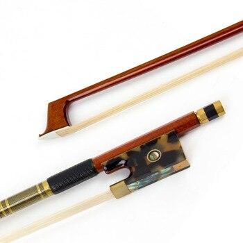 Brazil Sandalwood 4/4 Violin Bow Stick Hawksbill Frog Horsehair Gold Plated