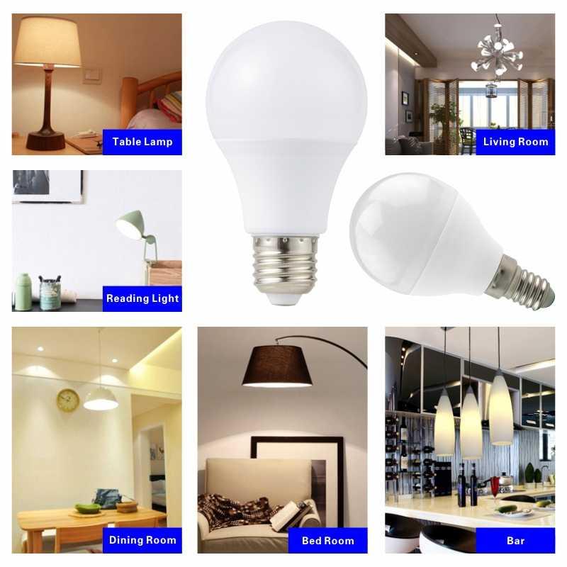 Lâmpada de lâmpada led 10 pçs/lote e27 e14, 3w 6w 9w 12w 15w 18w 20 lâmpada led de luz ac 220v-240v, holofote de luz branca fria/quente
