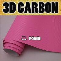 Розовый 3d винил с рисунком под углеродное волокно обертывание розовый лист пленки из углеродного волокна воздушный Выпуск автомобиля обер