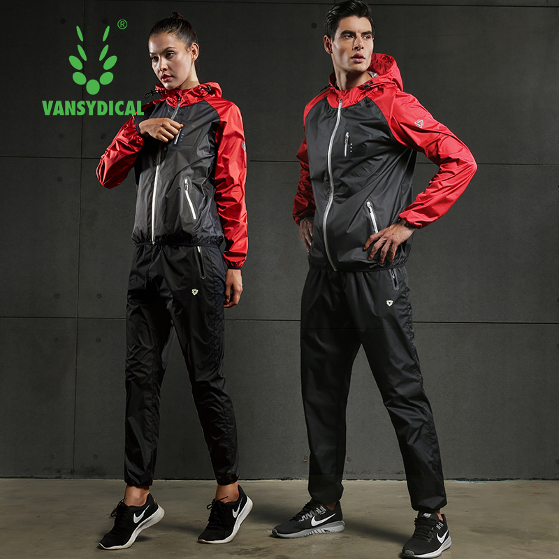 Fast Sweating Sports Suits Mens Gym Running Jackets Pants Set Lose Weight Slimming Workout Jogging Fitness