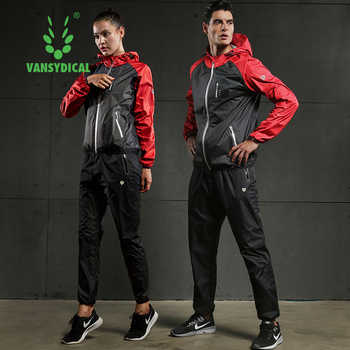 Fast Sweating Sports Suits Mens Gym Running Jackets Pants Set Lose Weight Slimming Workout Jogging Fitness Clothing 2pcs - SALE ITEM Sports & Entertainment