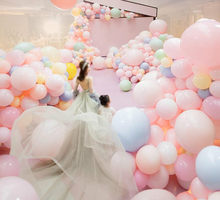 BRIDAY 10pcs/lot 10 Inch Clear Latex Balloon Transparent Ballon Romantic Inflatable Wedding Decoration Birthday Party Ballon@1(China)
