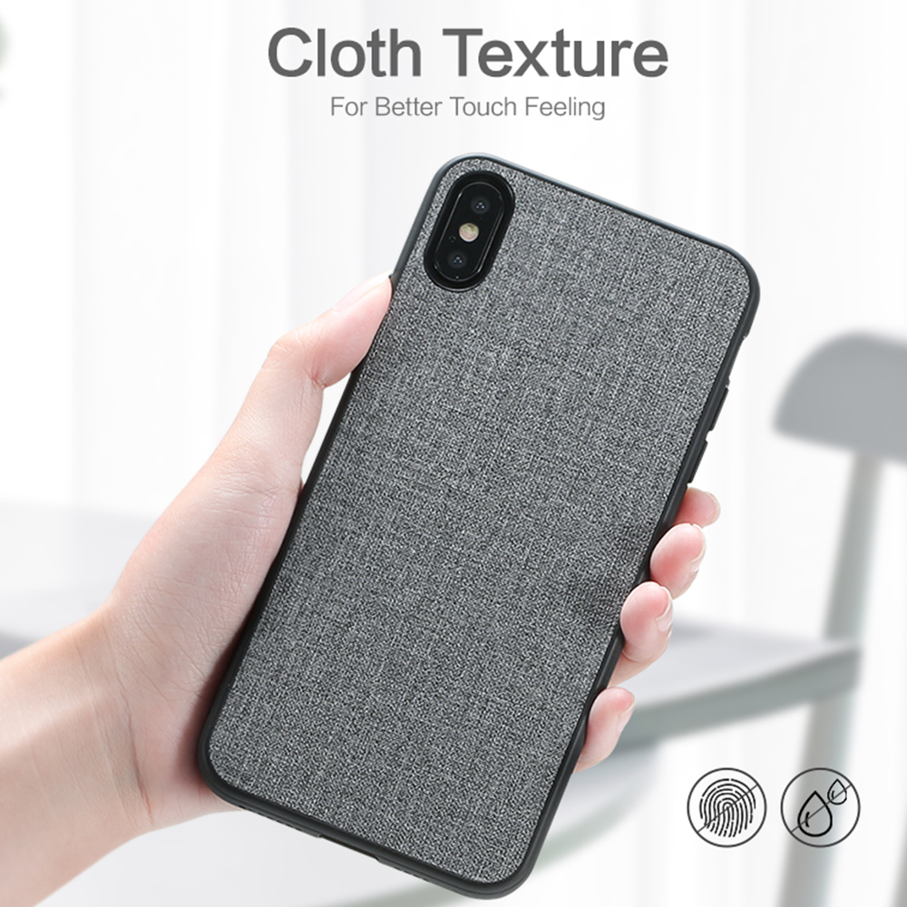 FLOVEME Retro Cloth Case For iPhone XR XS MAX X Business Soft Phone Case For iPhone 11 Pro 7 8 Plus 6 6S Phone Cover Cases Capa