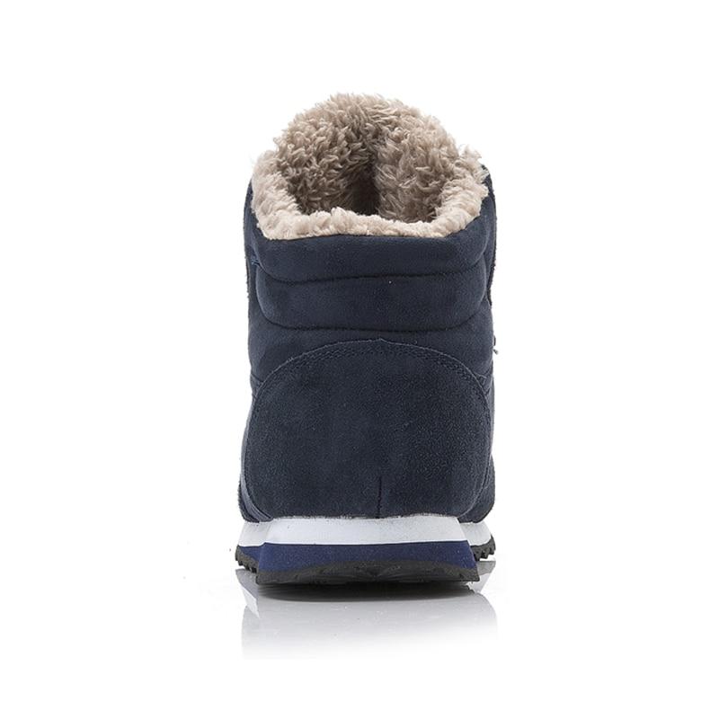 Men Boots Men Winter Shoes Plus Size 35-48 Warm Ankle Botas Hombre For Leather Winter Boots Shoes Men Plush Winter Sneakers Mens 4