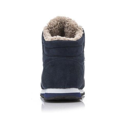 Men Boots Men Winter Shoes Plus Size 35-46 Warm Ankle Botas Hombre For Leather Winter Boots Shoes Men Plush Winter Sneakers Mens Multan