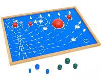 BOHS Beech Wood Solar System Nine Planets Montessory Teaching Aid Board High Quality 41*29CM