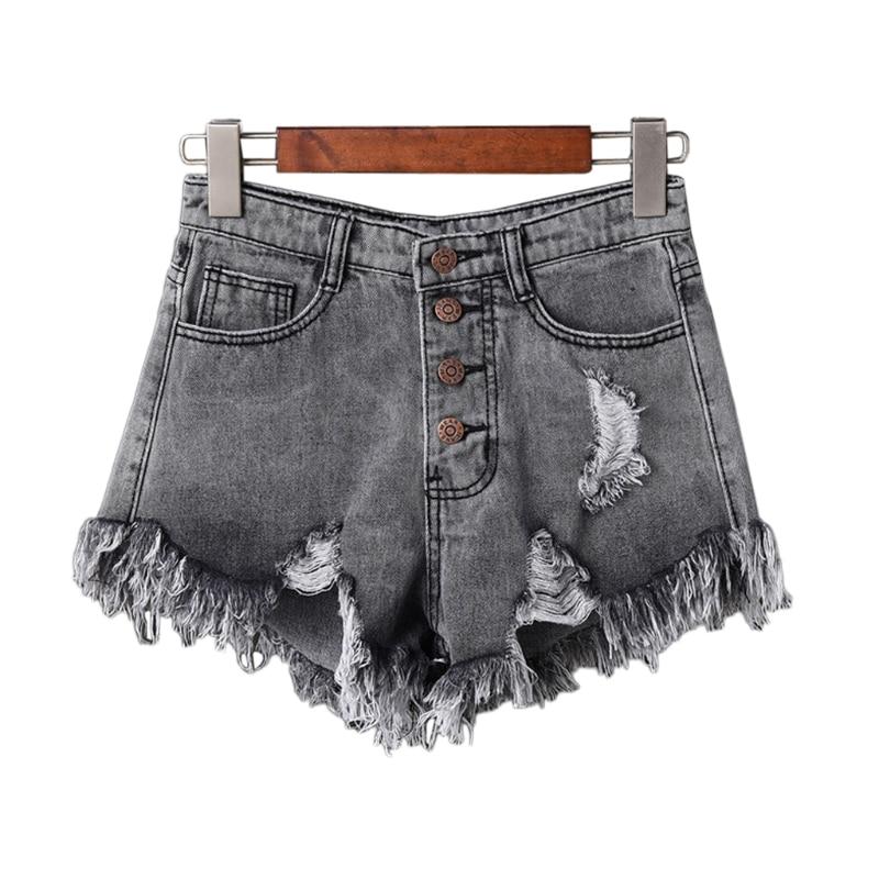 Sparsam Casual Sommer Heißer Verkauf Denim Frauen Shorts Hohe Taillen Pelz-gefüttert Bein-öffnungen Plus Größe Sexy Kurze Jeans Geschickte Herstellung Gepäck & Taschen