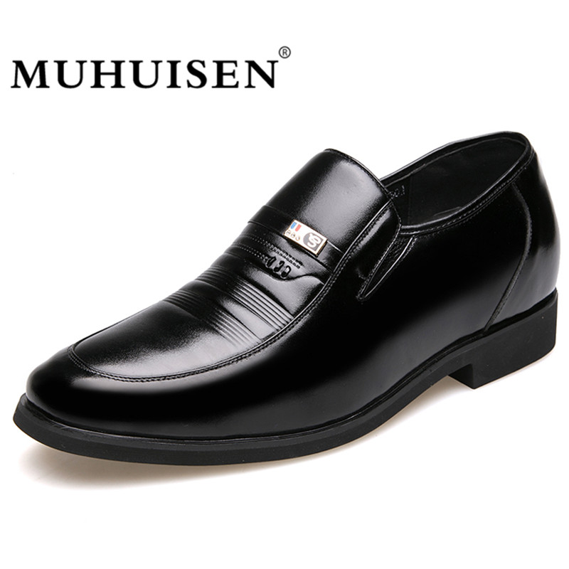 MUHUISEN Mens Height Increasing Shoes Genuine Leather Classic - Men's Shoes - Photo 1
