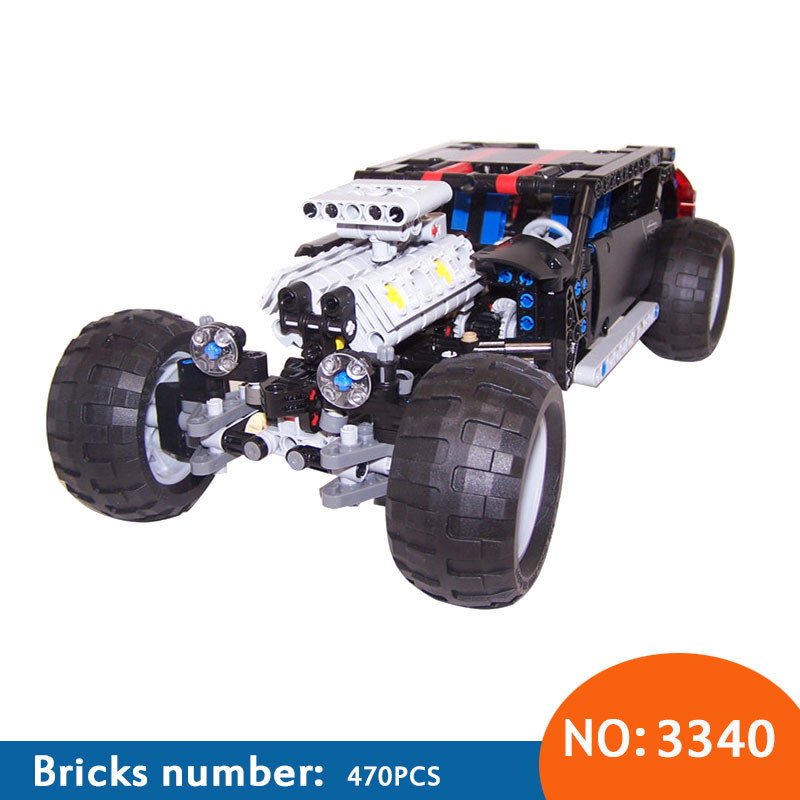 DECOOL 2017 New 3340 Technic Transport Hummer SUV 470 Pieces ABS Plastic Building Block Sets Toys For Children Bringuedos decool 2017 new 3340 technic transport