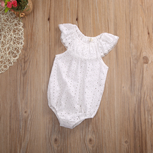 Lace Ruffles Neck Romper baby girls clothes 2017 Summer Toddler Infant Kids Sleeveless Clothes Cotton Jumpsuit Sunsuit Outfits