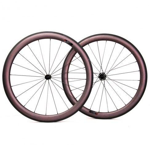 Caarbon Ceramic 700c 50mm Carbon Clincher Wheels, Road Bike Wheels,Wheelset, Powerway R13/R36/ Bitex Ceramic Hubs Cycling 6d maxliner