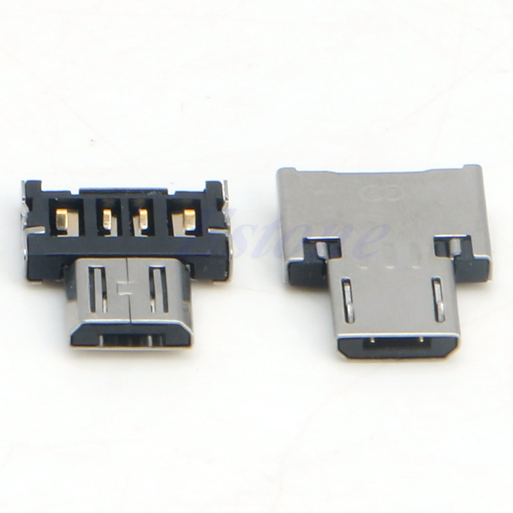 2Pcs Micro USB Male to USB Female OTG Adapter Converter For Tablet Android Phone