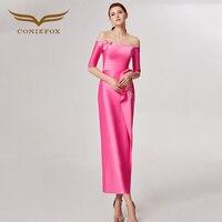CONIEFOX 32631 pink Shoulder Fashion sexy mermaid Ladies Retro elegance Appliques prom dresses party evening dress gown long