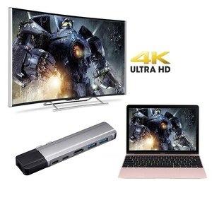 Image 4 - USB C ハブタイプ C アダプタサンダーボルト 3 4 HDMI ギガビットイーサネット 1000Mbps 2 に USB 3.0 ポート USB C Macbook Pro の充電