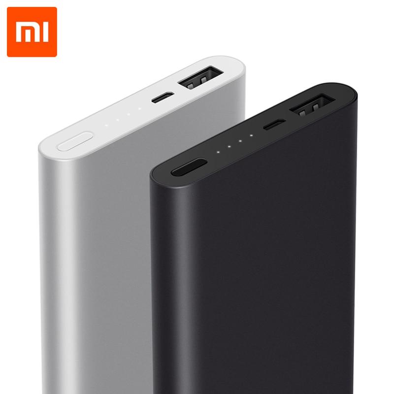 imágenes para Xiaomi Banco de la Energía 10000 mAh 2 Batería Externa Powerbank Delgado segunda Generación de Carga Rápida Para el iphone Xiaomi Samsung LG HTC