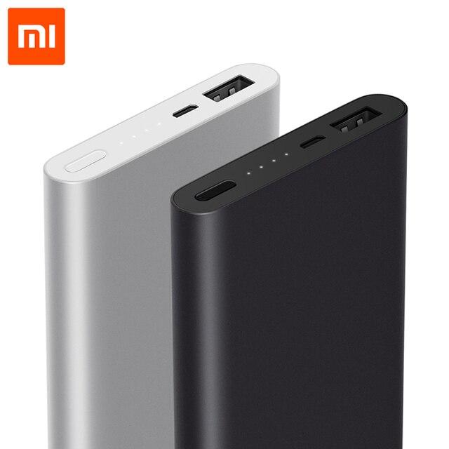 Xiaomi Power Bank 10000 мАч 2 Быстрая Зарядка Powerbank Внешний Аккумулятор Тонкий 2-го Поколения Для iPhone Xiaomi Samsung LG HTC