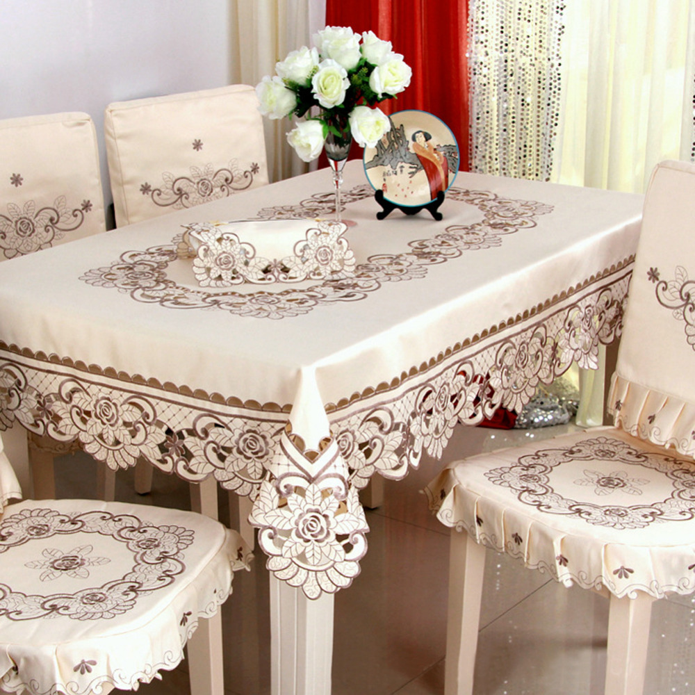 Fancy Wedding Decoration Ideas: 30*45cm European Embroidered Table Cloth Dining Table