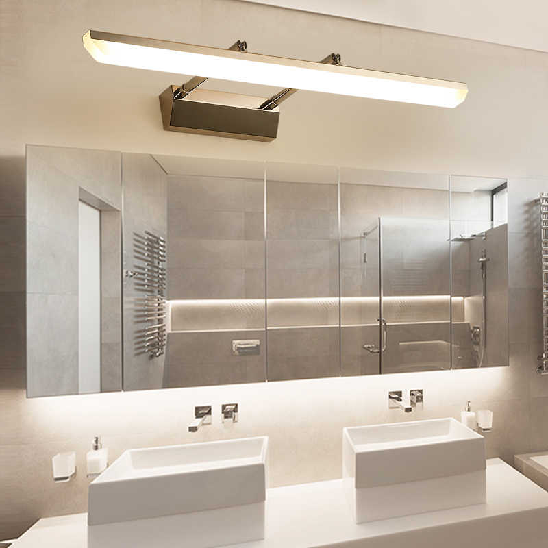 Modern LED Wall Lamps For Bathroom/Dressing Room 40cm~100cm Black & Silver  LED interior lighting Free Shipping