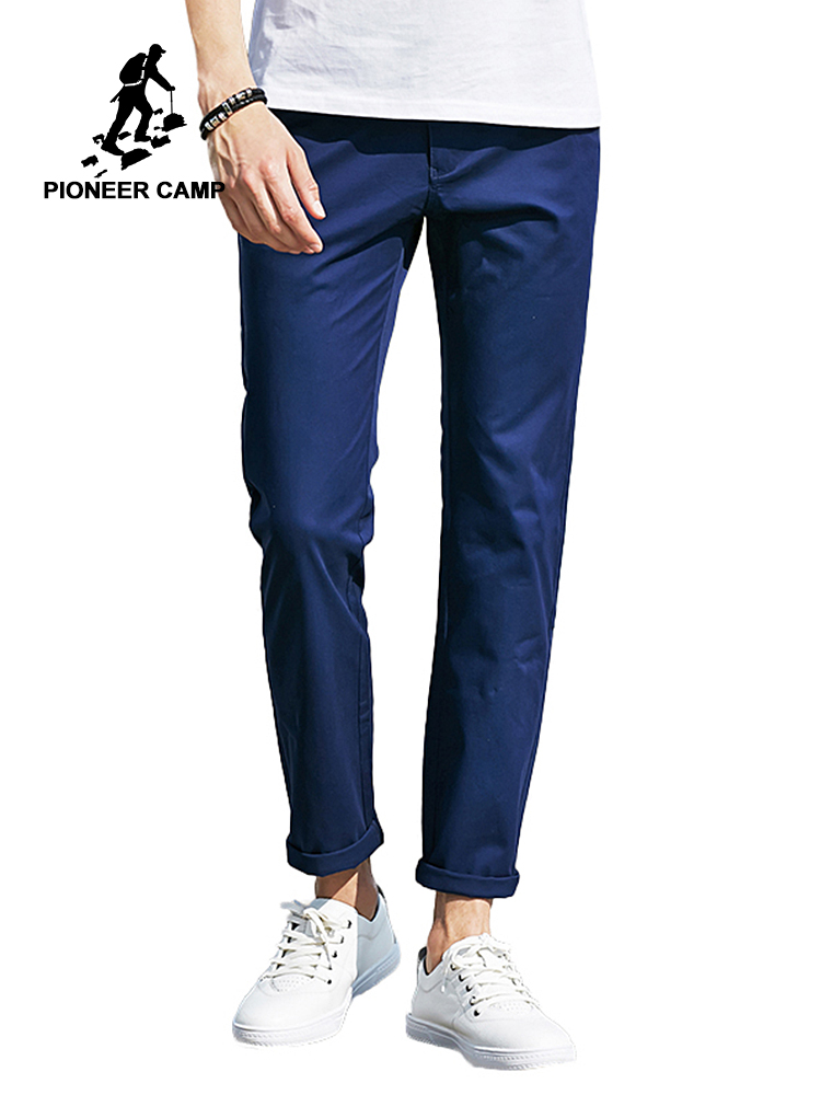 파이어 니어 캠프 2018 새로운 캐주얼 바지 최고 품질의 바지 남성 브랜드 스트레이트 코튼 남성 바지 얇은 브랜드 의류 남성 바지 655111