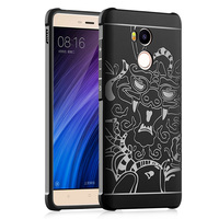 3D Dragon Style Fashion Business Soft Silicon TPU Shockproof Armor Case Cover For Xiaomi Redmi 4