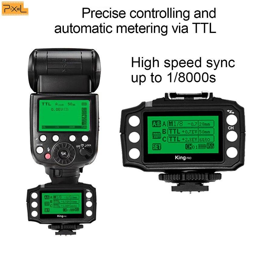 PIXEL King Pro Off-camera bezdrátový blesk Trigger Set Transceiver - Videokamery a fotoaparáty - Fotografie 3