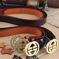 Cinturones de diseñador Hombres de Alta Calidad de Latón Hebilla de Cuero Genuino Correa de Los Hombres Ceinture Homme Marca de Lujo G Cinturón Cinturon Mujer MBT0234
