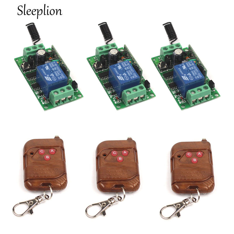 Sleeplion 433Mhz Universal Wireless Remote Control Switch DC 12V 1CH relay font b Receiver b font