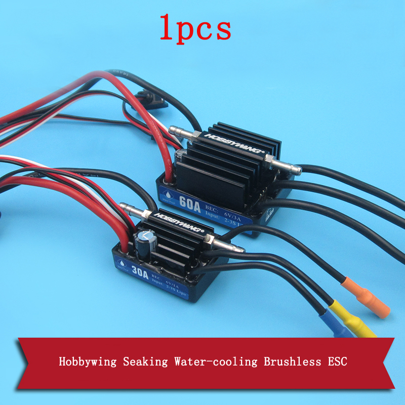 1pcs Hobbywing Seaking Water-cooling Brushless ESC 30A/60A/120A/180A V3 Color-box Version Waterproof ESC for RC Jet Boats hobbywing seaking 60a v3 electronic speed controller esc for rc boats free shipping with tracking