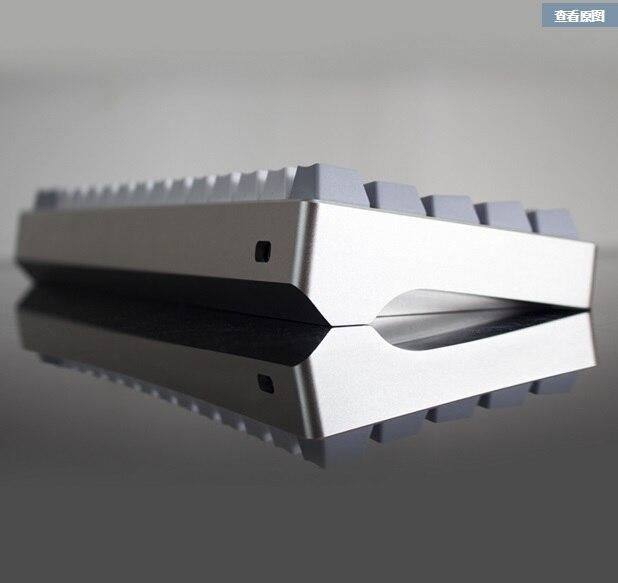 Mechanial клавиатура оптопары алюминиевый корпус gh60 покер 60 механическая клавиатура shell