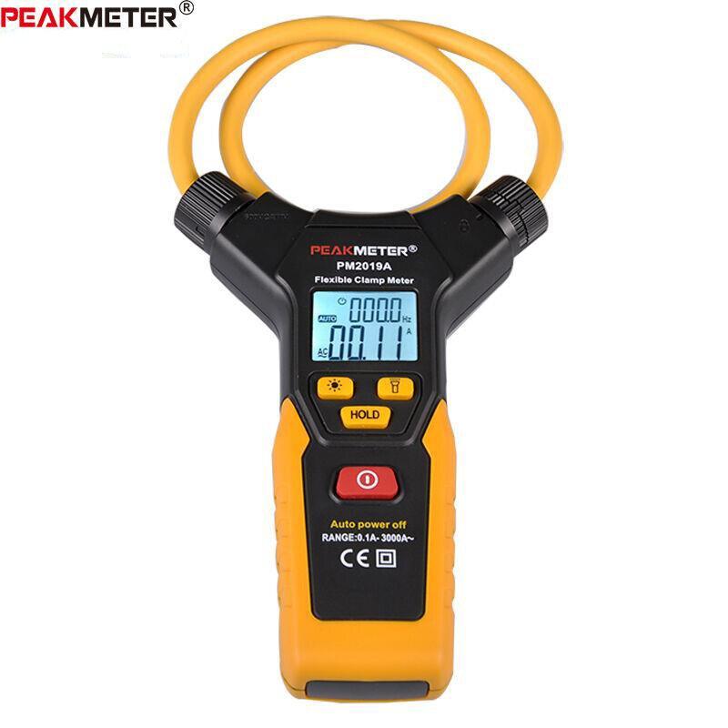 Multímetro LCD Digital Flexible pinza medidor AC pinzas de corriente herramienta de diagnóstico PEAKMETER amperométrico PM2019A - 6