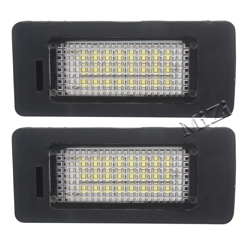 2 PCs Error Free 24 LED White License Number Plate Light Lamp For BMW E81 E82 E90 E91 E92 E93 E60 E61 E39 X1/E84 Brand New