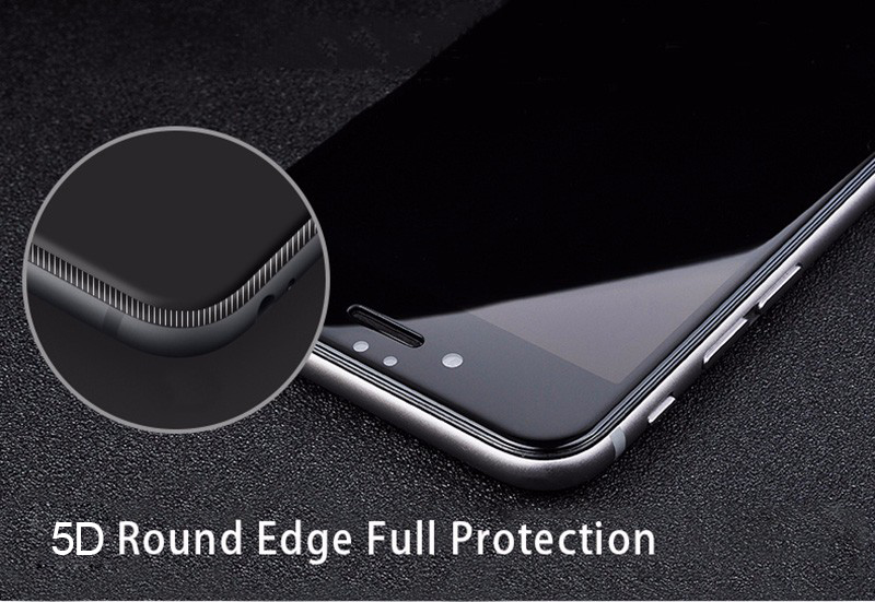 5D Round Curved Edge Tempered Glass For iPhone 6 6s Plus 7 8 X Full Cover Screen Protector Premium 5D Protective TOMKAS (7)